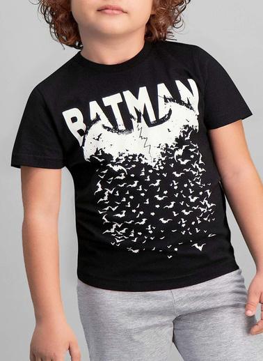 Batman Batman Lisanslı Turkuaz Erkek Çocuk Kapri Takım Siyah